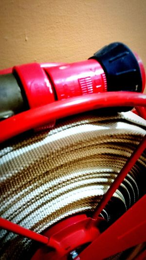 Fire hose. Emergency. Image. Editorial.