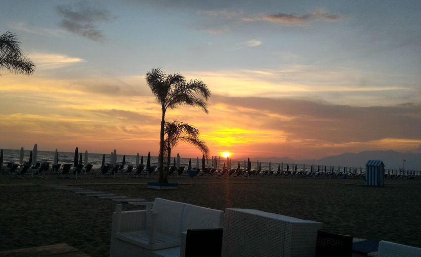 Day Tranquility Sky No People Tree Nature Sunset Beauty In Nature NoFilterNoEdition No Filter, No Edit, Just Photography Italy🇮🇹 Sea Beach Beautiful View Romantic View Beautiful Colors Travel Destinations Romanticism Waiting For Summer