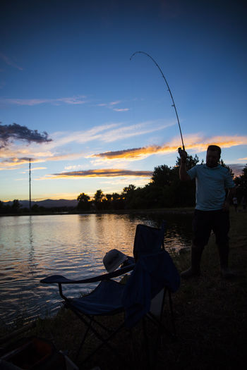 Canon Canonphotography Fishing Lakeside Nature Nature Ribo Sky Sunset Vibrant Color Water WorldOfHuntingAndFishing