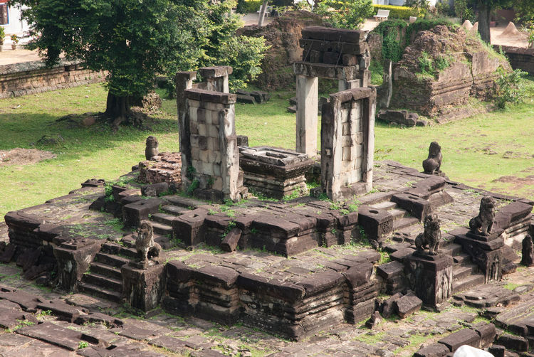 Old ruins in a temple