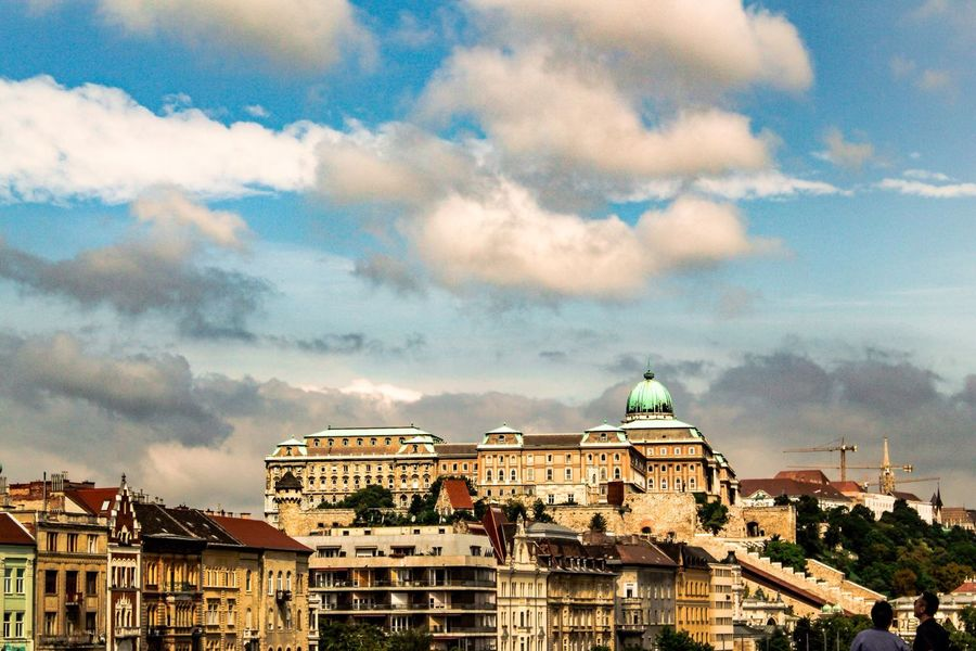 Buda side from the middle of Budapest Budapest, Hungary Wyd Traveling Europe Eurotrip Buda Side Architecture Houses Sky And Clouds