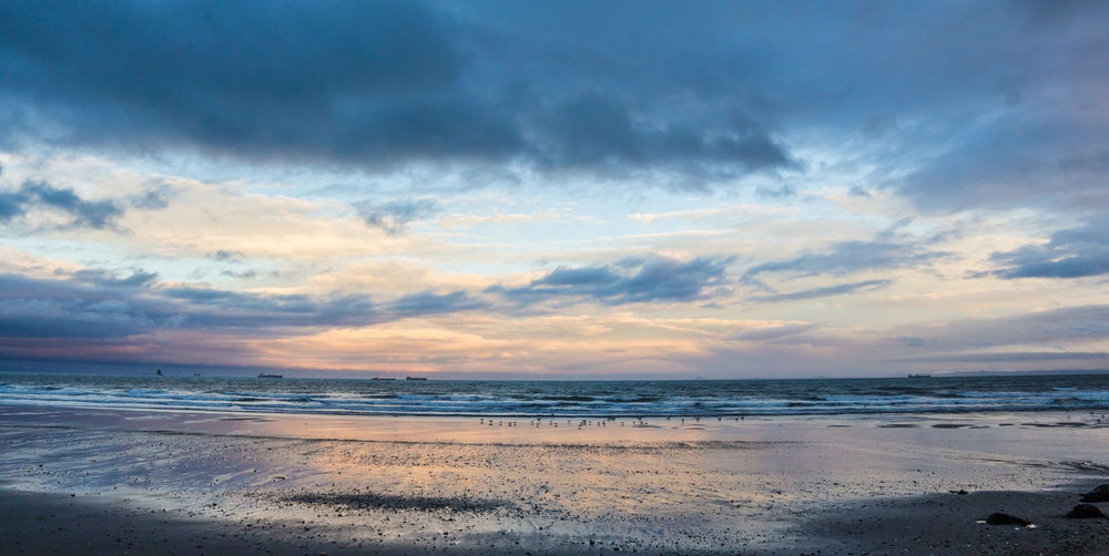 Beach Beauty In Nature Cloud - Sky Day Horizon Over Water Nature No People Outdoors Sand Scenics Sea Sky Sunset Tranquil Scene Tranquility Water Wave