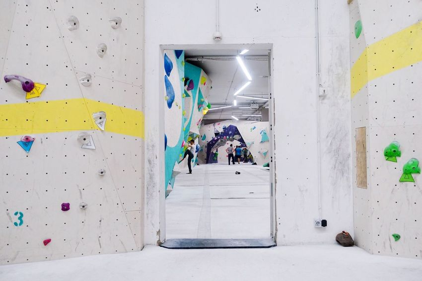 Indoors... EyeEm Selects Indoors  Leisure Activity Lifestyles Sport Real People Full Length Climbing Wall Built Structure Multi Colored Architecture