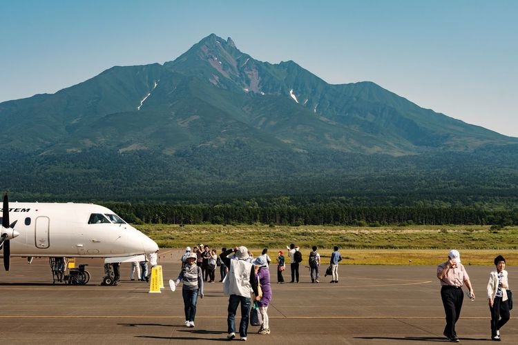 EyeEm Selects Travel Mountain Airplane Outdoors Day Sport People Adult Only Men Adults Only Rishiri Island Hokkaido Japan