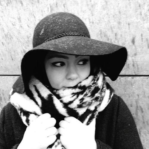 Taking Photos Hi! That's Me Chapeau Black And White