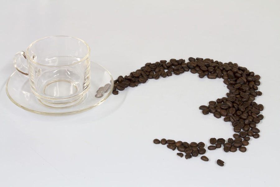 Coffe Beans Coffe Cup Coffee Cup Ideas No People Studio Shot White Background