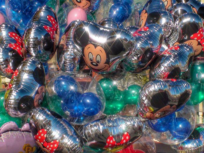 Walt Disney World The Magic Kingdom Main Street Main Street USA Balloons Mickey Mouse Mickey Florida Orlando Orlando Florida