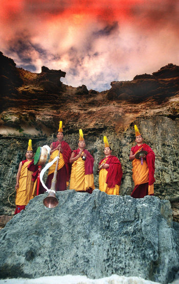 Gyuto Monks of Tibet Beach Beauty In Nature Budda Cloud - Sky Day Gyuto Monks Of Tibet Mountain Multi Colored Nature No People Outdoors Scenics Sky Sunset Tibet Tibetan Buddhism Tourism Tranquility Travel Travel Destinations Tree Vivid International