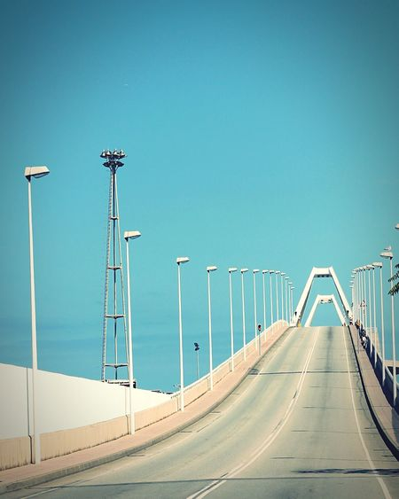 Bridge Against Clear Sky