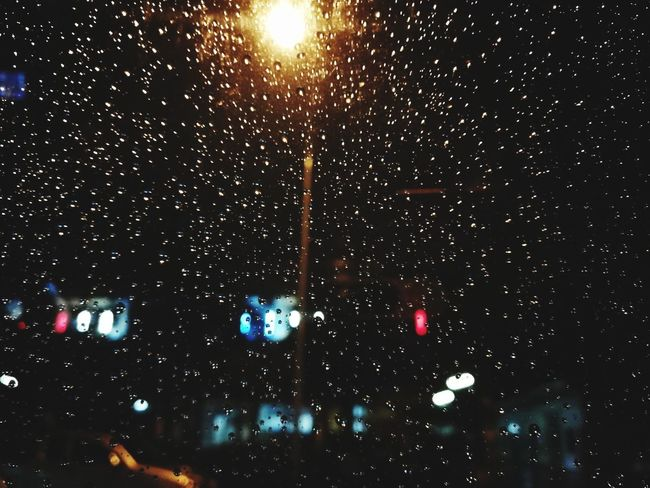 Raining2 Night Illuminated Arts Culture And Entertainment No People Outdoors Star - Space Sky Nature Close-up Galaxy Astronomy Water Water Reflections Textile Arts And Crafts Apart Between Full Frame City Street Light Lighting Equipment Pattern Craft Studio Shot Gold Colored