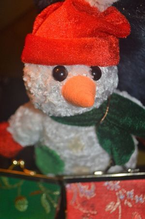 Art And Craft Celebration Christmas Close-up Cold Temperature Creativity Festival Hat Holiday Human Representation Indoors  No People Red Representation Snow Snowman Stuffed Toy Toy Winter