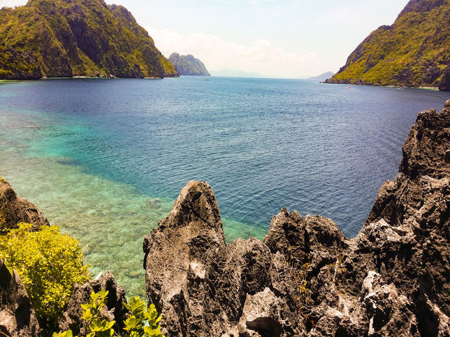 El Nido Palawan Sea Beach Outdoors Horizontal Beauty In Nature Water Scenics Day Sky Nature People First Eyeem Photo