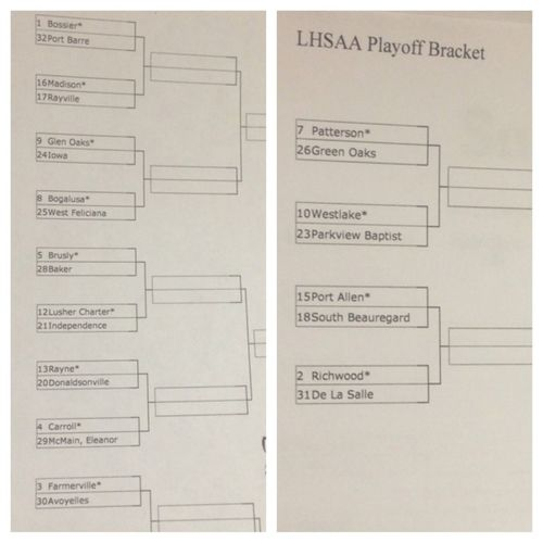 Playoff Bracket .. ROUND 1