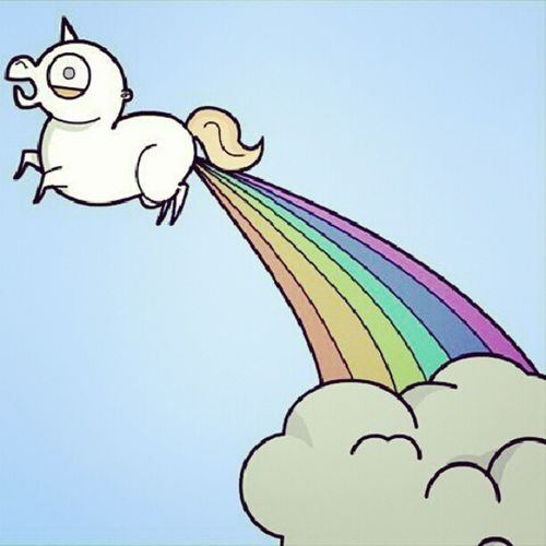 Be the unicorn thats shits rainbow when everything goes crazy. Bemyselfforthetimebeing .