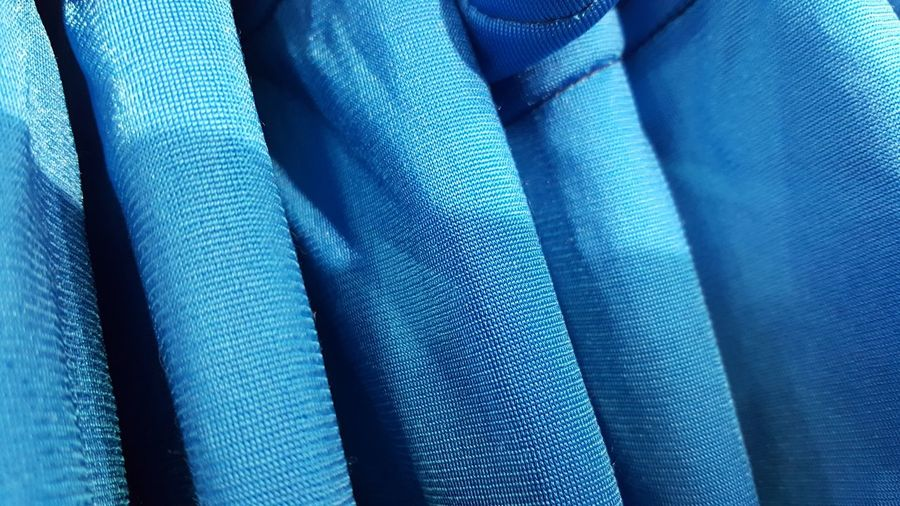 Full Frame Shot Of Blue Fabric