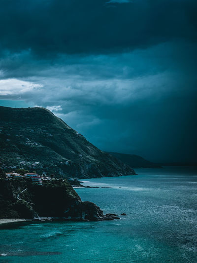storm is coming Storm Sloud Moiuntains Shore Bay Beach Cloud Cloudy Sea Hill Scenery Seaview Moody Water Sea UnderSea Mountain Beauty Beach Sky Dramatic Sky Atmospheric Mood Storm Cloud Thunderstorm