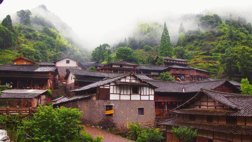 林坑 Hello World Mountains Landscape_Collection Mist Zhejiang,China Foggy Morning Village Rainy Days