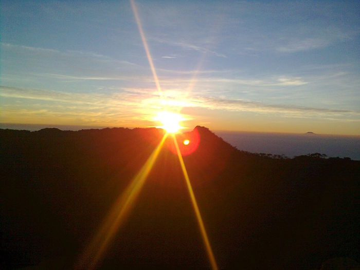 Mountain Kuningan Silhouette Sunrise Gunung Ciremai 3078mdpl