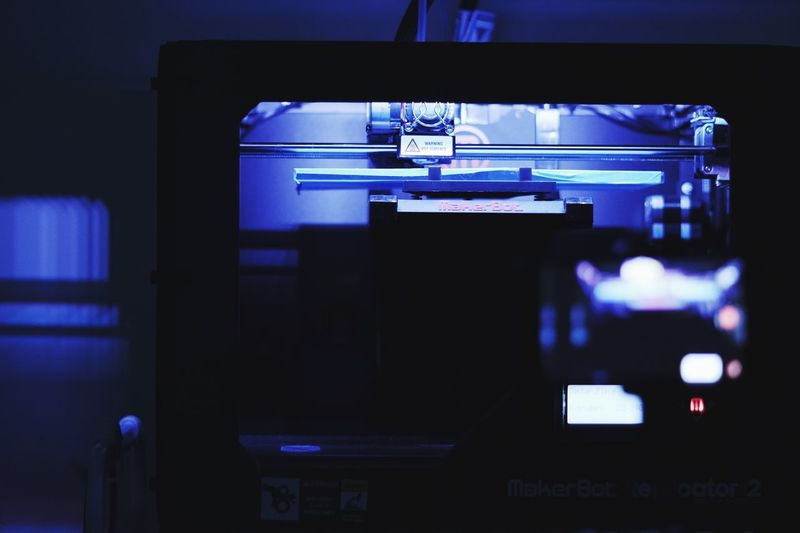 3D printing MakerBot 3d Printing Illuminated Night Communication No People Built Structure Arts Culture And Entertainment Indoors  Lighting Equipment Technology