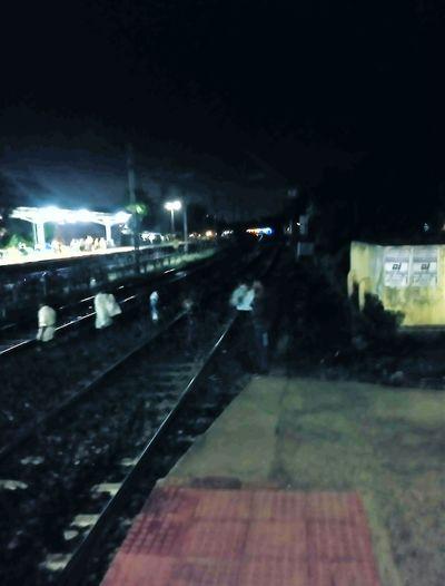 Night Vision Of Railway Station