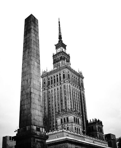 Palace Of Culture Warsaw Poland My City