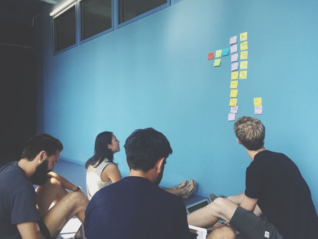 Meeting Brain Storming Creative Session Start Up Company Team Post Its