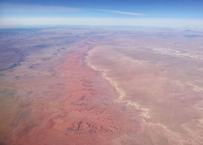 Desert colors. Horizontal Planet Earth Curvature Of The Earth Erosion Drainage Channel Arid Landscape Canyon Western USA Desert Colors Desert Nature Sand Beauty In Nature Scenics Tranquil Scene Outdoors Aerial View Landscape Arid Climate