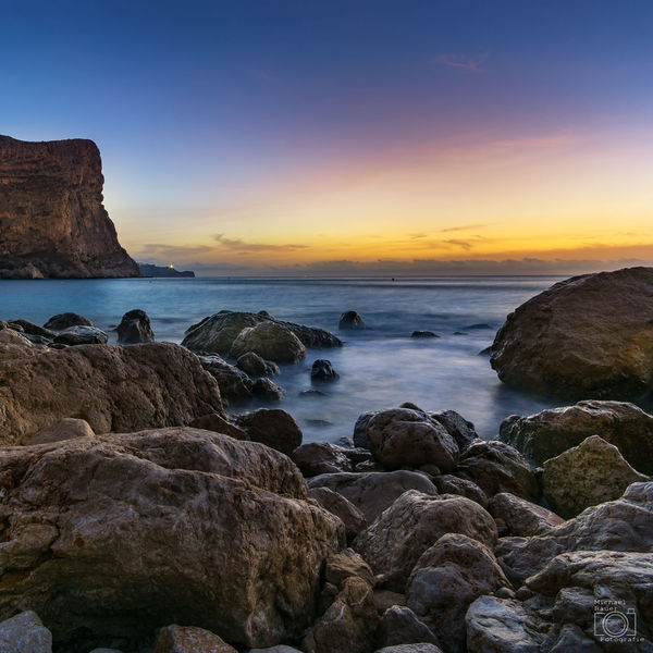 Sea Sunset Beach Horizon Over Water Water Sky Landscape Rock - Object Outdoors Nature Wave Blue Longexposure Langzeitbelichtung Costa Blanca Benitachell SPAIN España