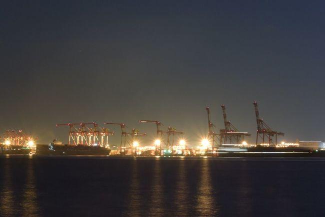 Shipping Crane Night Photography Night View Seascape Night Lights Night City