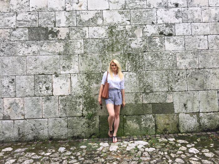 Krakow Polishgirl Castle Wall