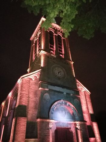 Night Tower Religion Architecture Building Exterior Business Finance And Industry Built Structure No People Clock Tower Illuminated Tree Outdoors Clock Clock Face
