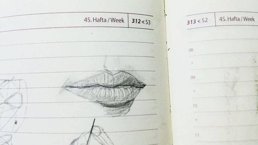 Karakalem Lips Lip ArtWork