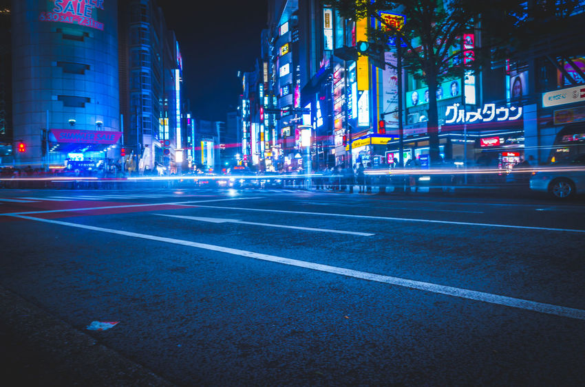 Cityscape Cyberpunk Futuristic Japan Lights Motion Blur Moving Shibuyascapes Tech The Creative - 2018 EyeEm Awards The Street Photographer - 2018 EyeEm Awards Tokyo Architecture Atmospheric Mood Blue Blur Blurred Motion Building Building Exterior Built Structure City City Life City Street Cityscape Illuminated Light Trail Marking Mode Of Transportation Mood Motion Neo Tokyo Neon Night Nightlife No People Office Building Exterior Outdoors Road Sign Skyscraper Speed Street Symbol Technology Transportation Urban HUAWEI Photo Award: After Dark