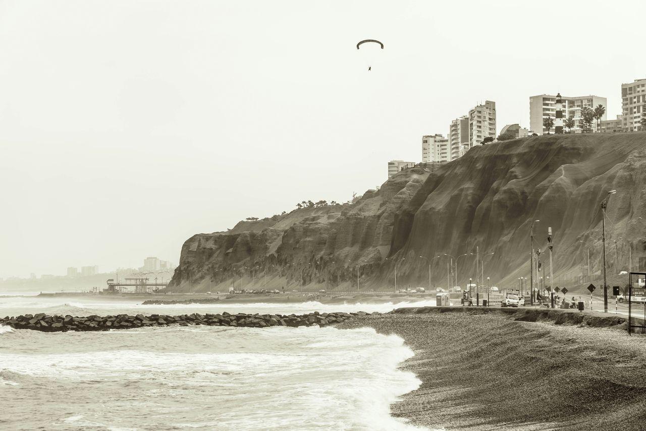 Cliffs Along Beach
