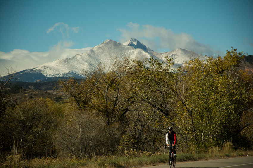 Adventure Biking Colorado Geology Landscape Majestic Mountain Mountain Peak Mountain Range Nature Non-urban Scene Outdoor Recreation Outdoors Physical Geography Remote Scenics Snow Tranquil Scene Tranquility Vignette Weather Winter On Your Bike
