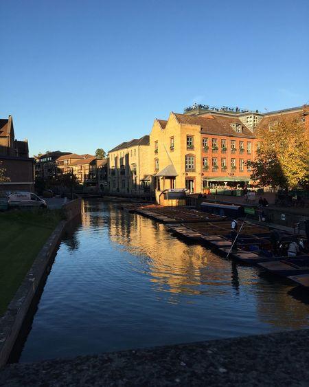Cambridge Cambridge England Architecture Water Sun