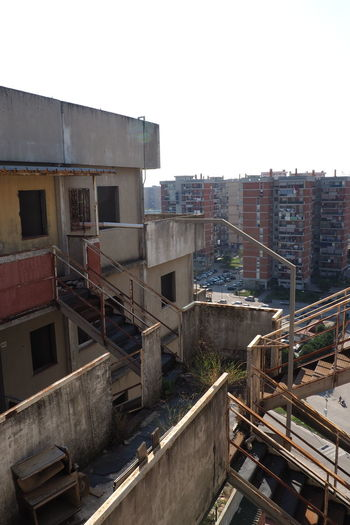 Scampia Architecture Broken Down House Building Exterior Built Structure Documentary Failure  Lost Place Napoli Sails Scampia Social Housing Steps Vele