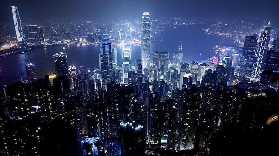 from The PEAK. HongKong Discoverhongkong Leica Leicaq Peak Nightphotography Night Lights EyeEmBestPics EyeEm Gallery Eyeemphotography EyeEmBestEdits The Architect - 2016 EyeEm Awards Pmg_hok