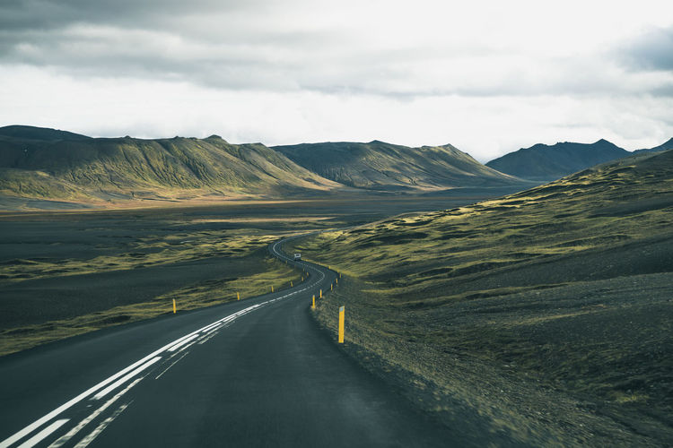 Horizontal Iceland Landscape Mountain Nature Road Scenics Travel Winding Road Fresh On Market 2016