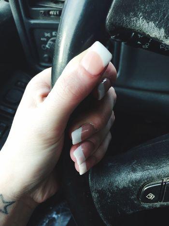 Acrylic Acrylic Nails Fake Nails Nails French Tip Nails French Tip Human Hand Human Body Part Close-up IPhoneography Beautiful