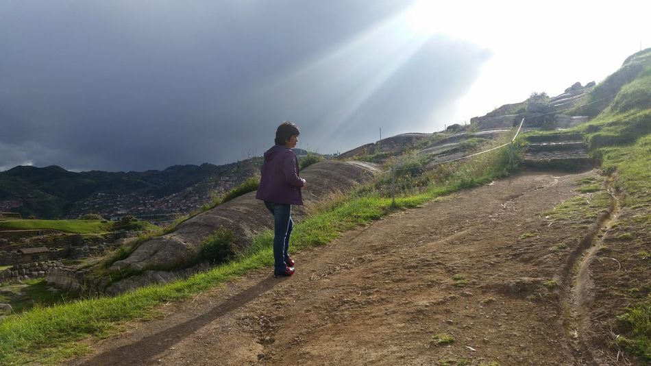 Amazing Beauty In Nature Cusco Love This Place Mountain Outdoors Peru Sacsayhuaman Stairway To Heaven Sunny Day Walking Love My Mommy