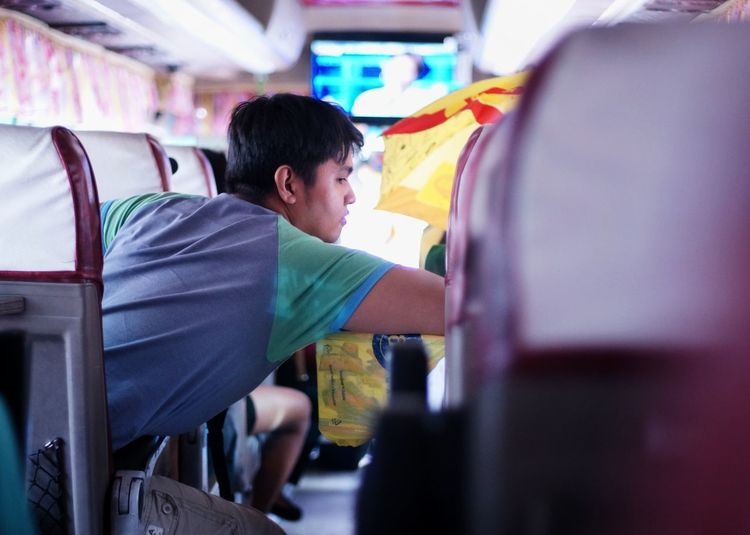 Transportation Sitting Cubao Quezon City Philippines The Week On Eyem ASIA Bus