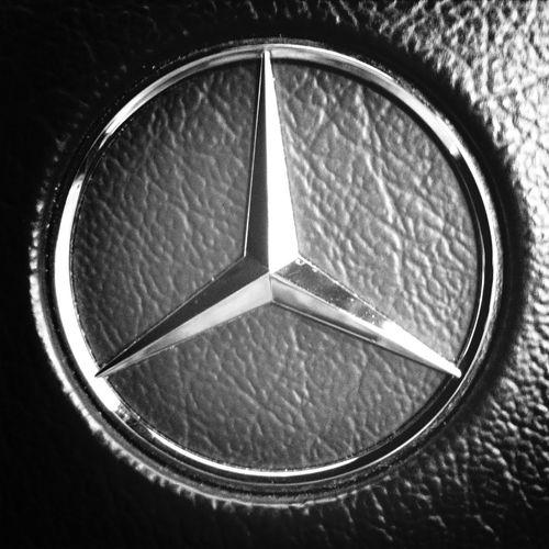 Driving Mercedes Blackandwhite Car