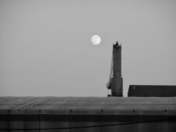 Architecture Astronomy Beauty In Nature Built Structure Clear Sky Crescent Day Half Moon Moon Nature No People Outdoors Scenics Sky Tales Of Another Live For The Story