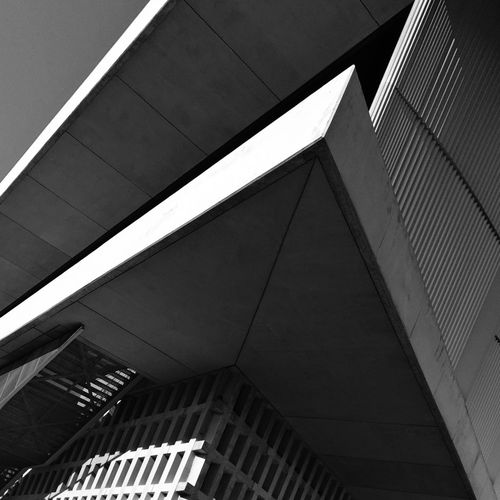 Architecture Built Structure Low Angle View Modern No People Building Exterior City Blackandwhite Athens Greece