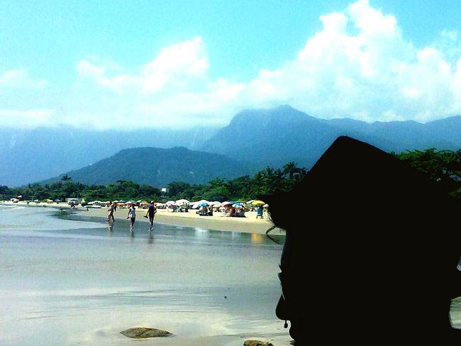 Mar Azul CeuAzul Nuvensbrancas Praia Garoto Chapéu