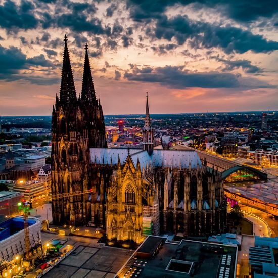Cologne cathedral germany during sunset
