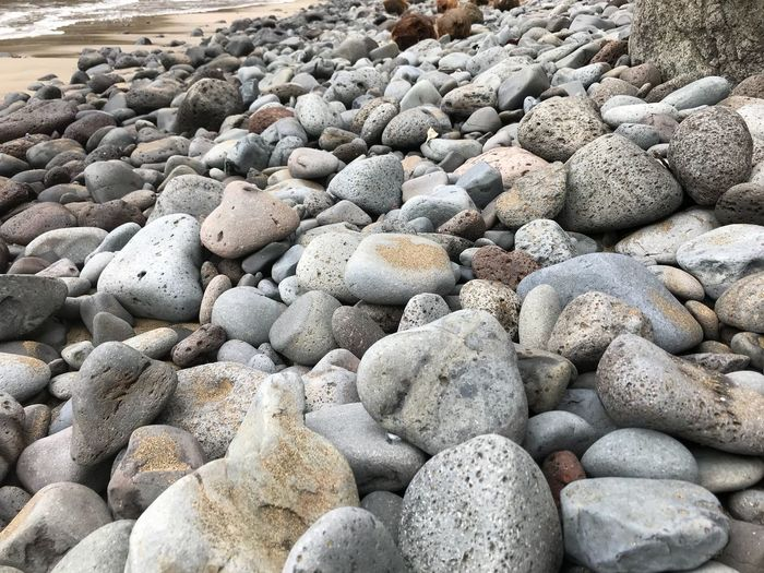 Rock Alley French Polynesia Polynésie Française Hiva Oa Marquises Marquesas Islands Hiva Oa Solid Rock No People Day Stone - Object Beach Nature Stone Abundance Large Group Of Objects Rock - Object Outdoors
