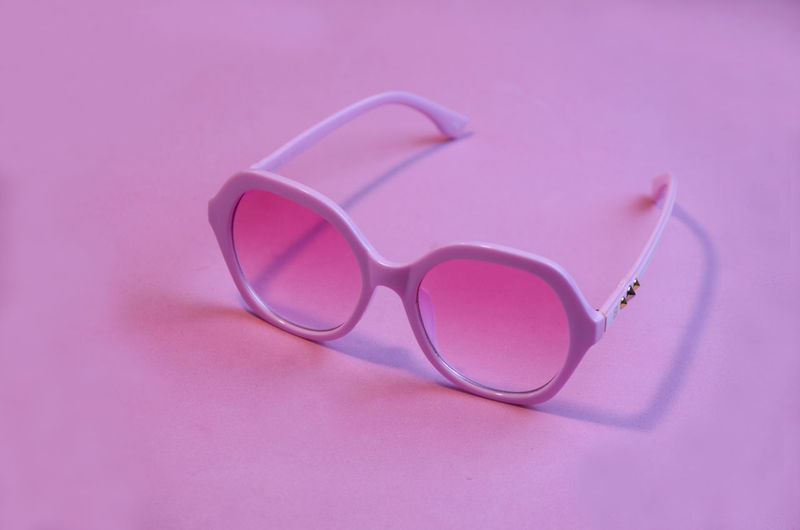 Pink Color Eyeglasses  Glasses Fashion Copy Space Still Life Personal Accessory No People Close-up Eyewear Glamour Mood Background Color Sunglasses Summer Women Are Crazy Fashion Image Addition Optimistic Positive Emotion Idealized Optimism Indoors
