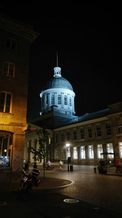 Old Montreal Architecture Dome History Travel Destinations Building Exterior Night City Nightscape Montréal Quebec Canada Old Port Market Night Of City